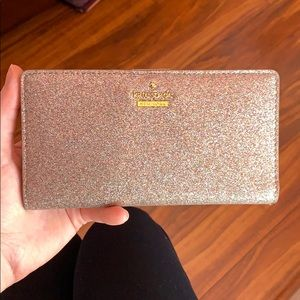 Kate Spade Wallet Sparkly light pink